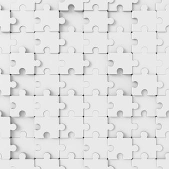 Abstrato de quebra-cabeças. renderização em 3d.