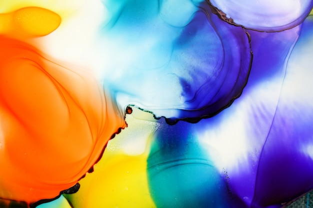 Abstrato de tinta de álcool