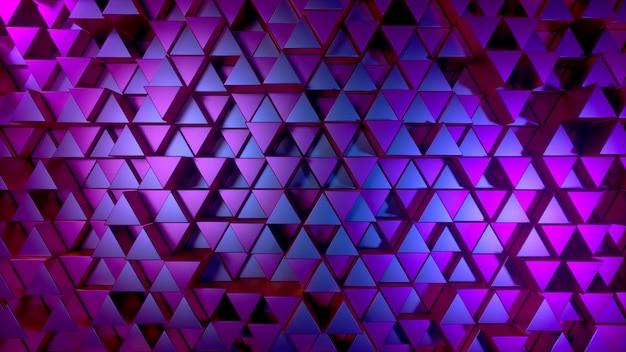 Abstrato de triângulos brilhantes de metal