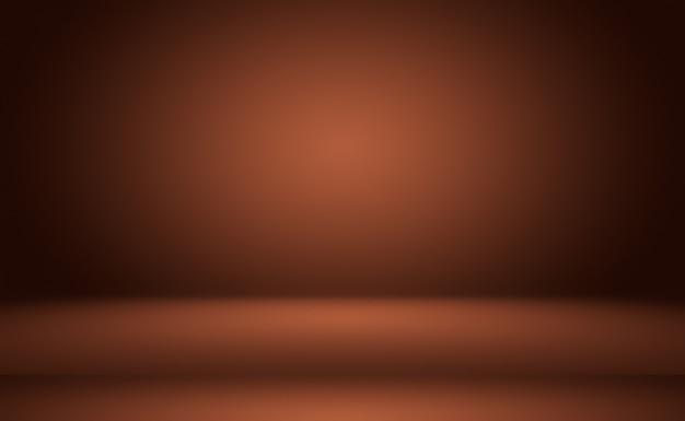 Abstrato design de layout de fundo de parede marrom suave, estúdio, sala, modelo da web, relatório de negócios com cor gradiente de círculo suave. Foto gratuita
