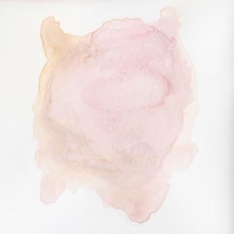 Abstrato em aquarela com um splatter rosa de tinta aquarelle