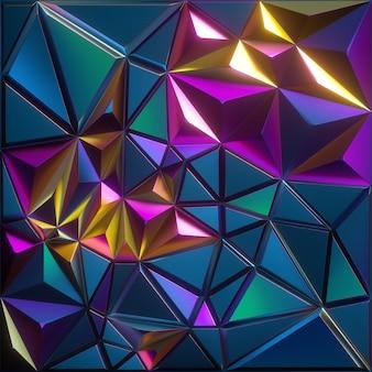 Abstrato facetado com efeito iridescente