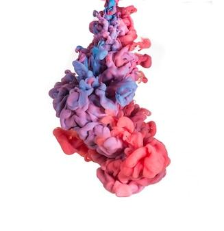 Abstrato formado por cor que se dissolve em água