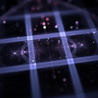 Abstrato fractal luzes wallpaper