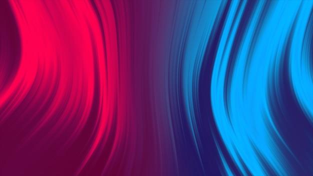 Abstrato líquido de cor vermelha e azul. animação de gradiente fluido 4k