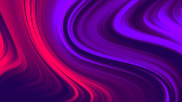 Abstrato líquido de cor vermelha e roxa. animação de gradiente fluido 4k