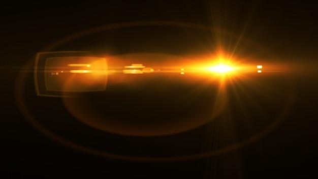Abstrato luz brilhante sol estourar com lente digital flare