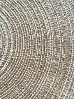 Abstrato natural trançado de videira, palha, fundo de algodão