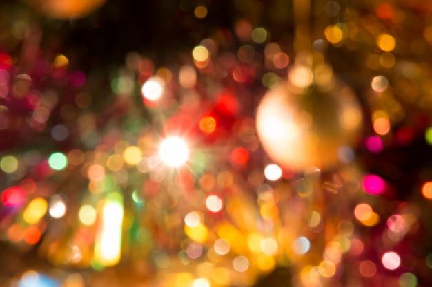 Abstrato ornamento e lâmpada decoração de natal no feliz natal e feliz ano novo nig