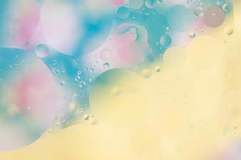 Abstrato padrão colorido com bolhas de água