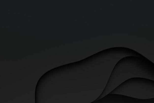 Abstrato papel preto cortado design de plano de fundo para promoção de banner de mídia social