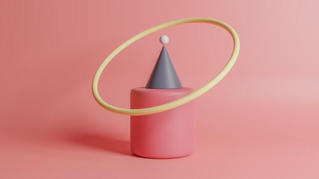 Abstrato, pódio de forma cena geometria.