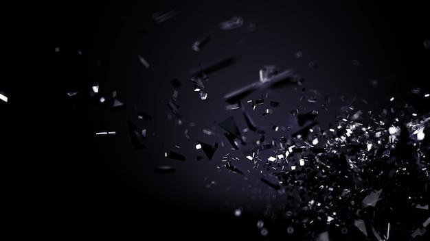 Abstrato preto. ilustração 3d, renderização em 3d