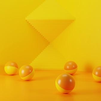 Abstrato realista, cena para a exposição do produto