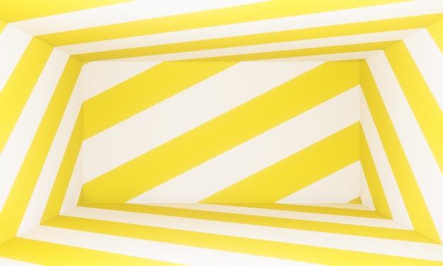 Abstrato sala amarela, design gráfico moderno, render 3d