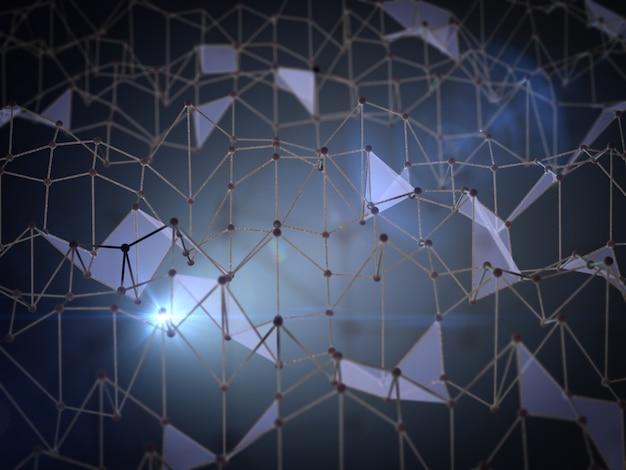 Abstrato, sob a forma de uma rede de triângulos