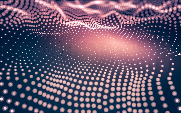 Abstrato. tecnologia de moléculas com formas poligonais, conectando pontos e linhas. estrutura de conexão. visualização de big data.