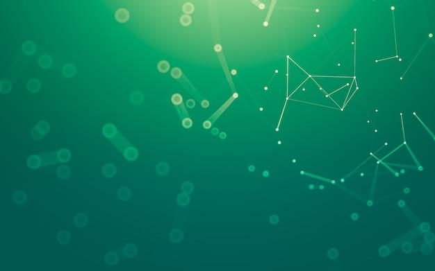 Abstrato. tecnologia de moléculas com formas poligonais