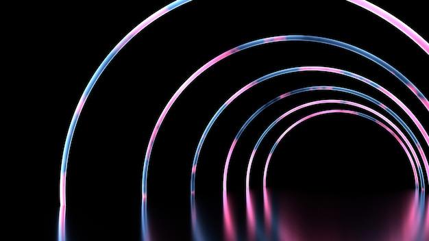 Abstrato tubo espiral curva brilhante neon conduziu a luz