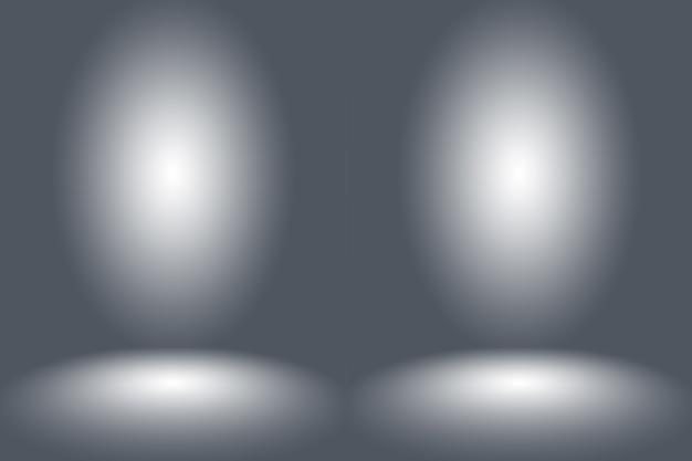 Abstrato vazio escuro branco cinza gradiente com vinheta sólida preta iluminação de parede de estúdio e fundo de piso bem usar como pano de fundo. sala branca vazia de fundo com espaço para seu texto e imagens.