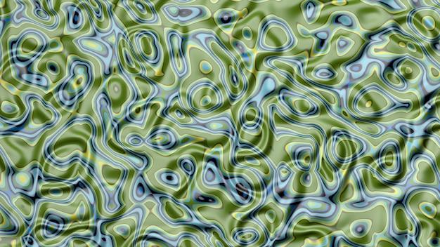 Abstrato verde e azul