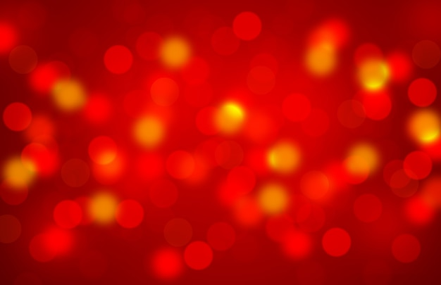 Abstrato vermelho turva luz ou bokeh para fundo de natal e amor