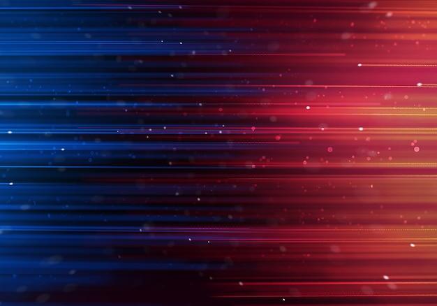 Abstratos, obscurecido, azul, e, roxo, coloridos, raios, em movimento, oposto, um ao outro