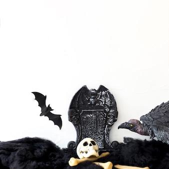 Abutre e morcego no cemitério