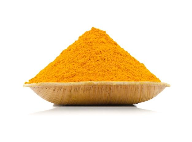 Açafrão em pó também chamado haldi na índia