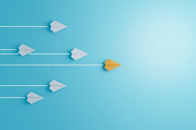 Ação de liderança para ter sucesso nos negócios e trabalho em equipe para tornar a renderização de ilustração 3d bem-sucedida