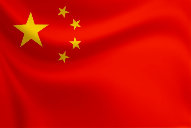 Acenando da bandeira da república da china