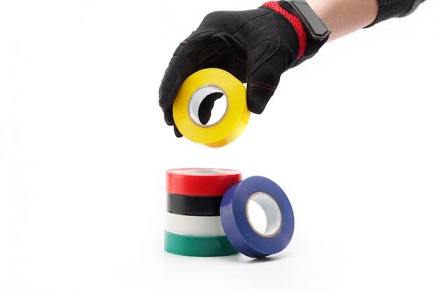 Acessório de fita adesiva para reparação em casa e na ferramenta de construção de trabalho.