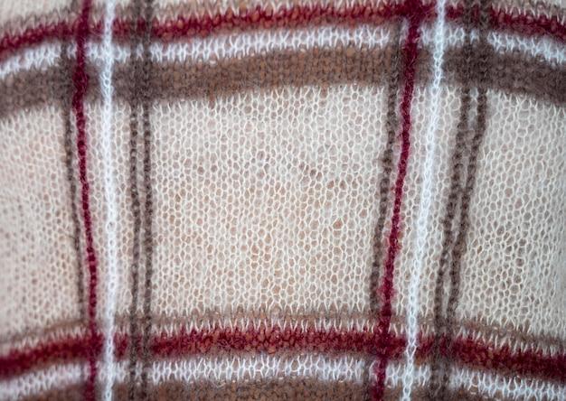Acessório de pano feito à mão em close-up extremo