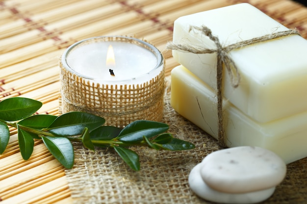 Acessórios de aromaterapia no spa