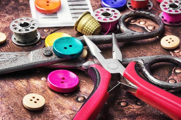 Acessórios de costura retro