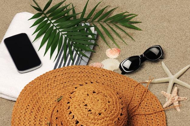 Acessórios de férias na praia