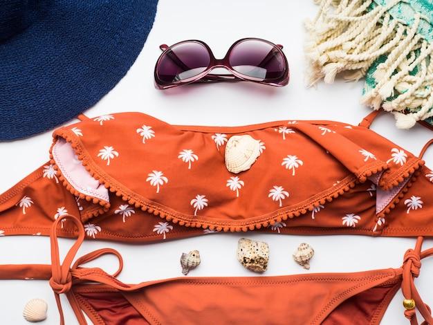 Acessórios de moda feminina praia
