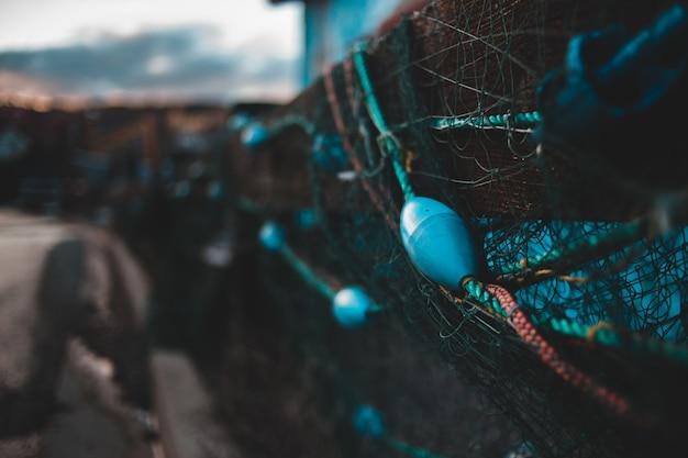 Acessórios de rede de pesca close-up