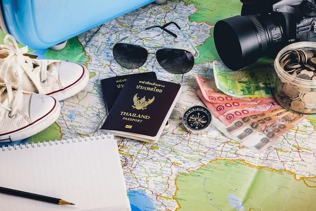 Acessórios de viagem para a viagem