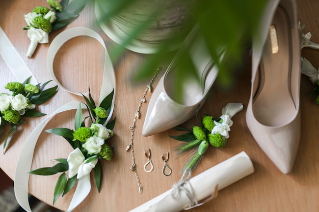 Acessórios do casamento