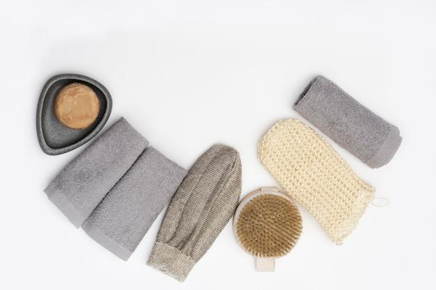 Acessórios para banho de material natural