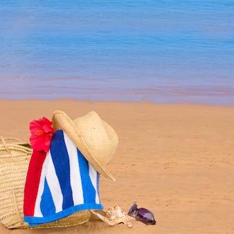 Acessórios para banhos de sol na beira-mar