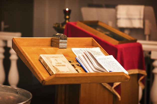 Acessórios para batismo, cruz. igreja ortodoxa