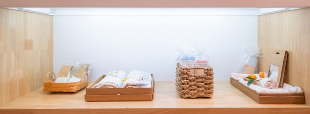 Acessórios para bebê para higiene na gaveta