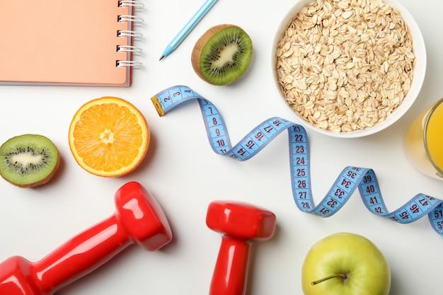 Acessórios para perda de peso, vista superior