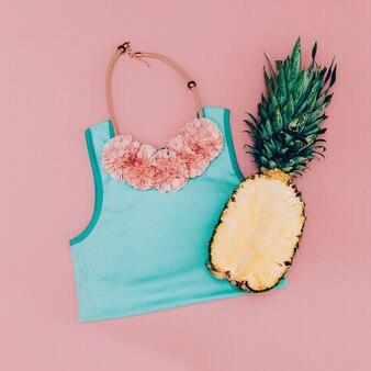 Acessórios pink lady. colar de moda. estilo havaiano