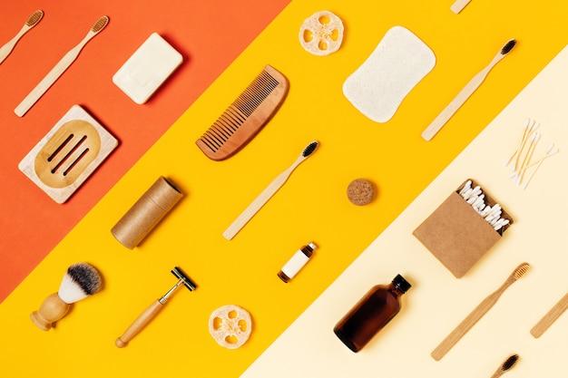 Acessórios reutilizáveis em cores.
