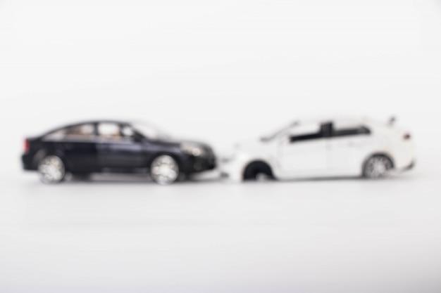 Acidente de acidente de carro de brinquedo