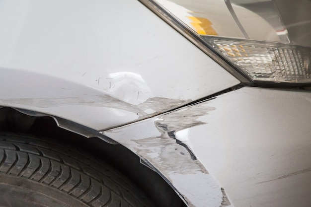 Acidente de carro após o fundo de acidente