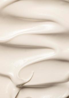 Acima, vista, delicioso sorvete derretido